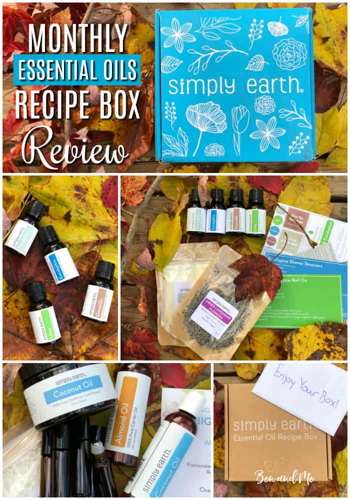 I'm so excited to share with you what I have discovered about Simply Earth and what excites me about their essential oil recipe subscription boxes. #essentialoils #aromatherapy #subscriptionbox #essentialoilsgifts #giftsforher #essentialoilsgiftguide #usingessentialoils #recipebox #essentialoilrecipes