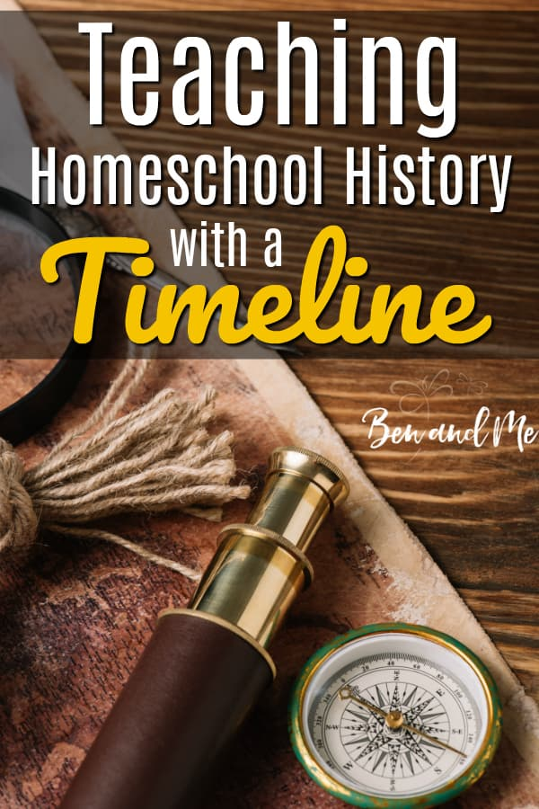 Let's spend a little time looking at different history timelines and how you can use them for teaching homeschool history to your students.  #homeschool #homeschoolhistory #historicaltimeline #teachinghistory #homeschoolmom