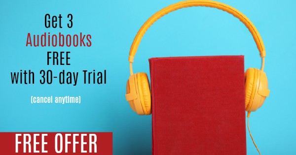 Get 3 Audiobooks for FREE with a 30-day trial of Audiobooks.com - cancel anytime! #audiobooks #homeschool