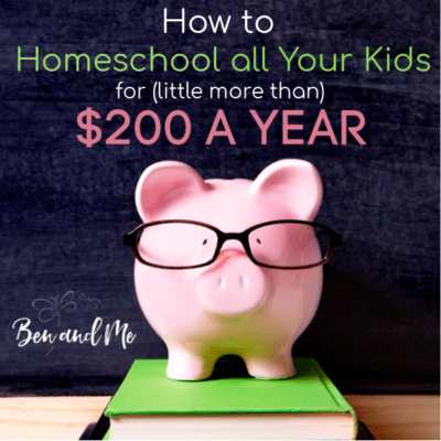 How to Homeschool ALL Your Kids for (little more than) $200 a Year