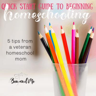 A Quick Start Guide to Beginning Homeschooling