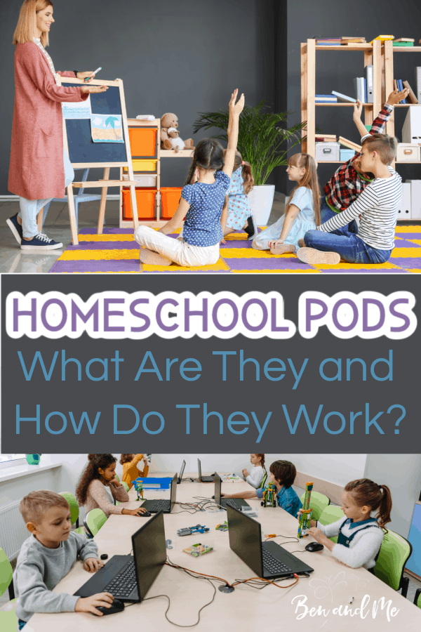 For parents who are having to choose the school at home option, homeschool pods may be your answer for increased social interaction, and help with teaching your children. Learn what they are and how they work. #homeschoolpods #schoolathome #virtualschool #publicschool #homeschool