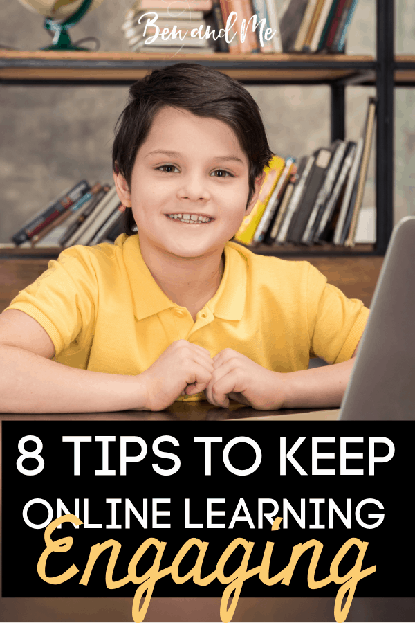 Some students struggle with staying motivated and engaged with online learning. Here are some tips to help keep online learning engaging. #onlinelearning #homeschooling #homeschooltips