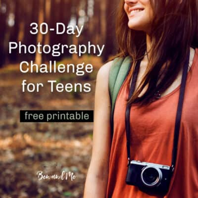 30-Day Photography Challenge for Teens