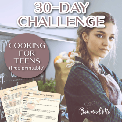30-Day Cooking Challenge for Teens