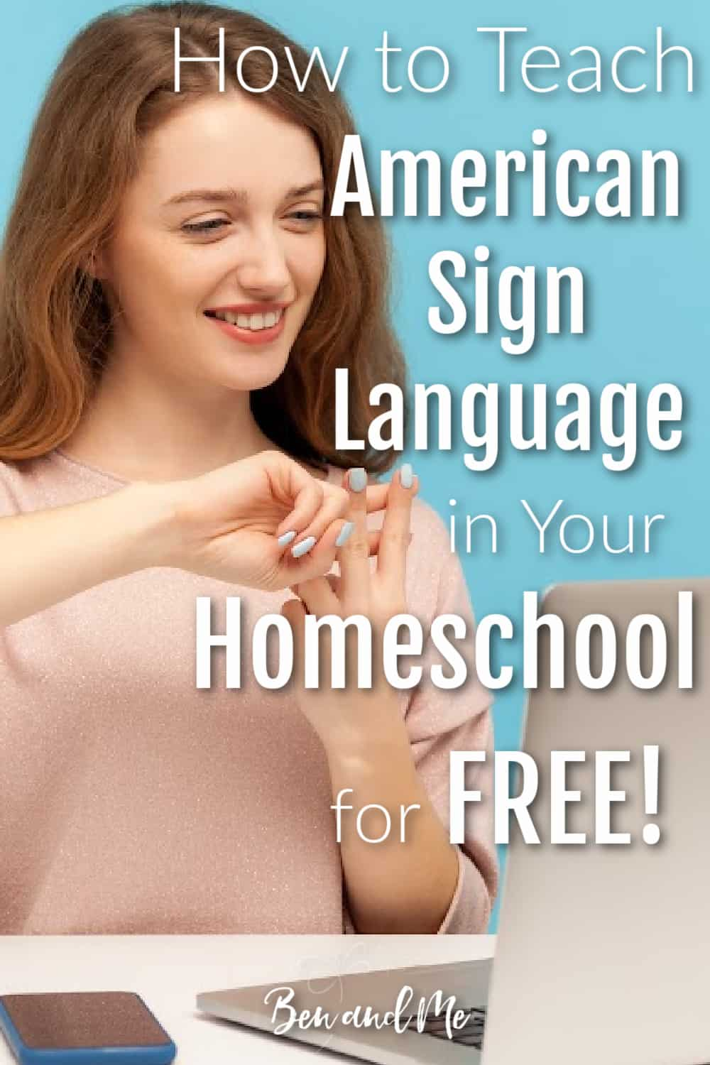 If you would like to teach American Sign Language in your homeschool, these tips and free resources will help you get started. #homeschool #learnasl #americansignlanguage #homeschoolforfree