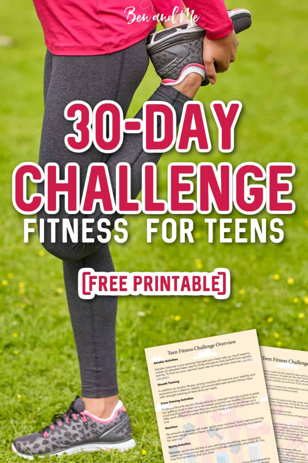 Our teen fitness challenge will motivate, inspire and teach your teenager about personal fitness accountability and intrinsic rewards. #30DayChallenge #teenfitness #fitnesschallenge