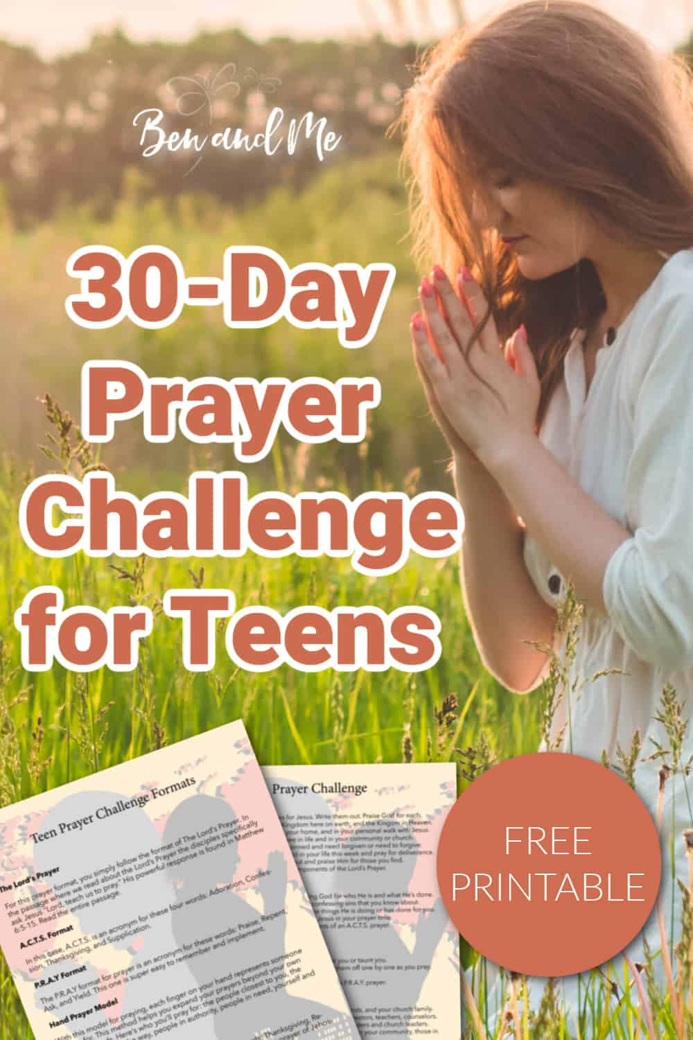 Our 30-Day Prayer Challenge for Teens is a wonderful way to help your child build a habit of praying daily. A Teen Prayer Challenge. #prayerchallenge #30daychallenges